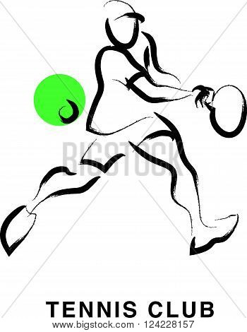 Hand drawn spotsman silhouette sketch. Human athlete figure isolated. Good for any sport competition advertising design, poster, placard, leaflet template. Sport magazine article illustration, print design.