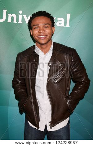 LOS ANGELES - APR 1:  Robert Bailey Jr at the NBC Universal Summer Press Day 2016 at the Four Seasons Hotel on April 1, 2016 in Westlake Village, CA