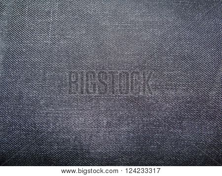 blue cloth, made of cotton, close up the terrain and scuffed white