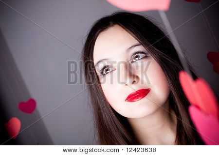 Attractive Woman On Valentine's Day
