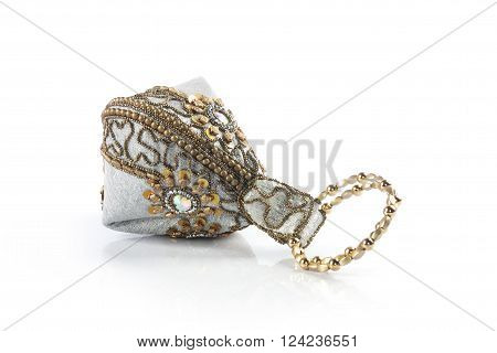 Fashionable Ladies Handbag Isolated on White Background