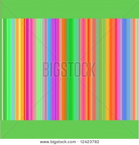 striped background in many colors with a green line  top and bottom