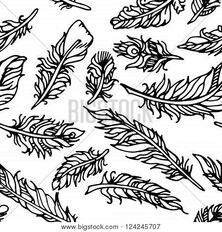 Hand drawn vector stock illustration Black and white