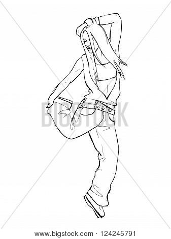Black and white hand drawn vector stock illustration. Isolated