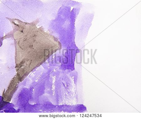 Abstract watercolor background vector illustration stain watercolors colors wet on wet paper.
