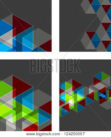 Cover triangles design templates easy all editable