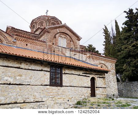 Holy Mary Peribleptos church one of the oldest churches in the town of Ohrid Macedonia