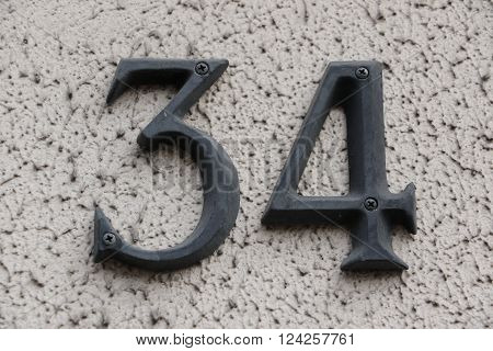 House number 34 in the city of Saint Cloud, France
