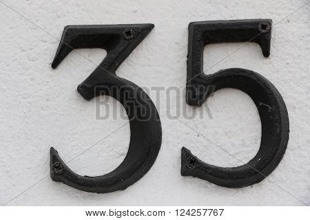 House number 35 in the city of Saint Cloud, France