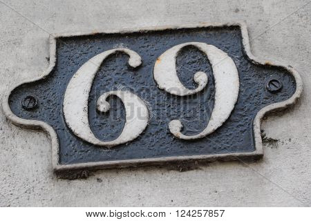 House number 69 in the city of Saint Cloud, France