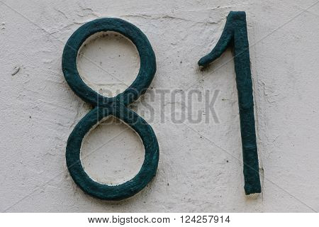 House number 81 in the city of Saint Cloud, France