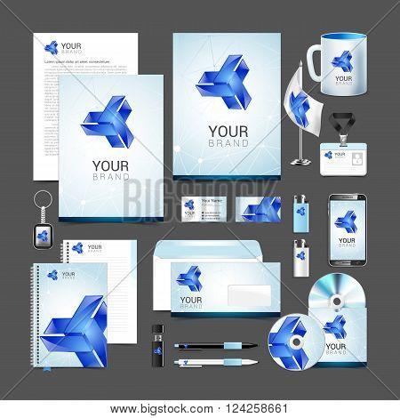 corporate identity creative color template design, business