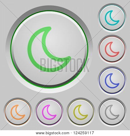 Set of color sleep sunk push buttons.