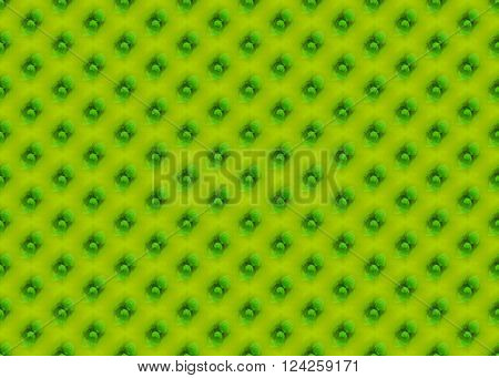 Abstract geometric seamless background single colored. Regular dots diagonally in bright green and dark green shades on lemon lime green.