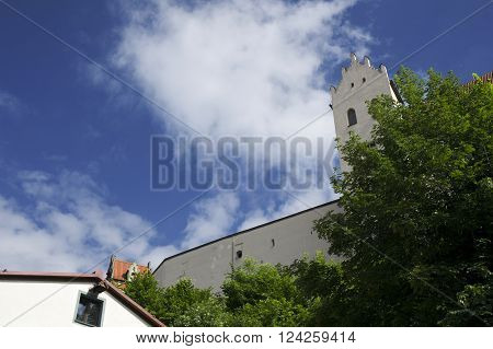 ancient monastry in fussen in germany during summer