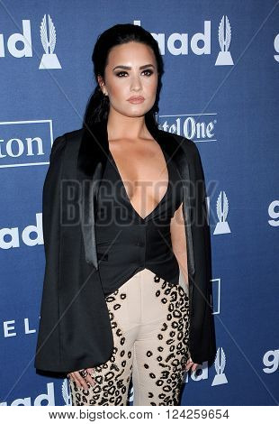 Demi Lovato at the 27th Annual GLAAD Media Awards held at the Beverly Hilton Hotel in Beverly Hills, USA on April 2, 2016.