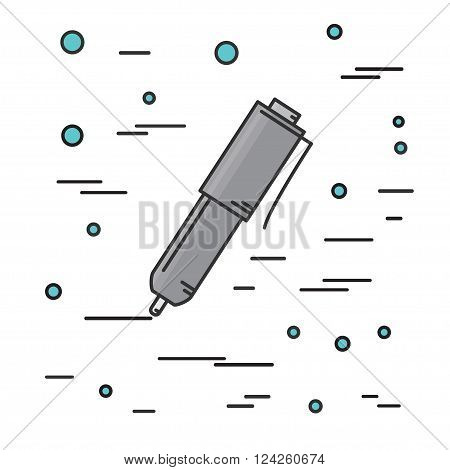 Ball Pen Isolated Icon. Think Line Icon. Vector Illustration.