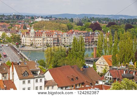 Aerial View Of Konstanz City, Germany