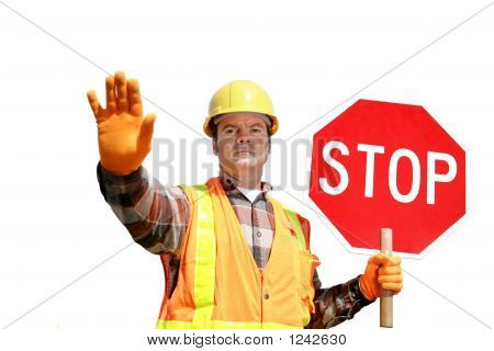 Construction Stop Isolated