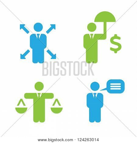 Business Policies Icons. 10 eps vector illustration