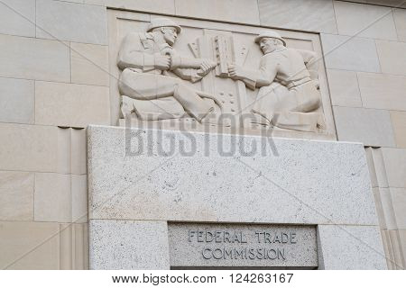 WASHINGTON, DC - MARCH 25, 2016: Building facade of the United States Federal Trade Commission