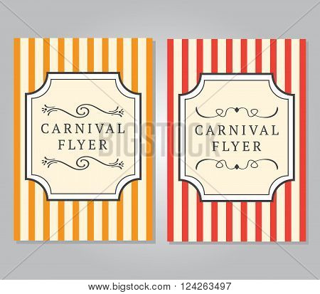 Carnival Flyer Template. 10 eps vector illustration