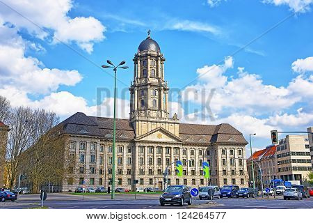 Street view to Altes Stadthaus in Berlin in Germany. Altes Stadthaus is called as Old City Hall in English. Now it is used by Senate.