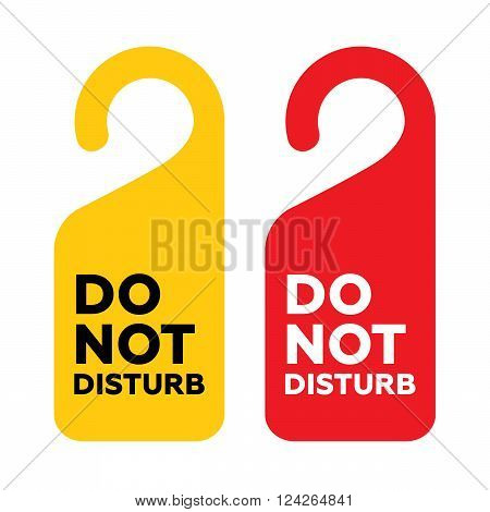 Do Not Disturb Door Sign. 10 eps vector illustration