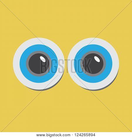 Cartoo sight design pop-eyed funny. 10 eps vector illustration