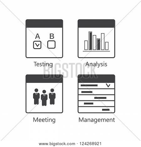 SEO Usability Icons Set. 10 eps vector illustration