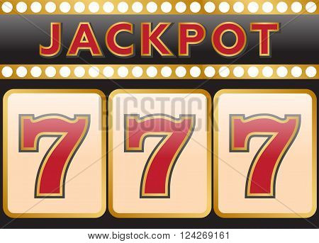 Lucky seven jackpot. 10 eps vector illustration