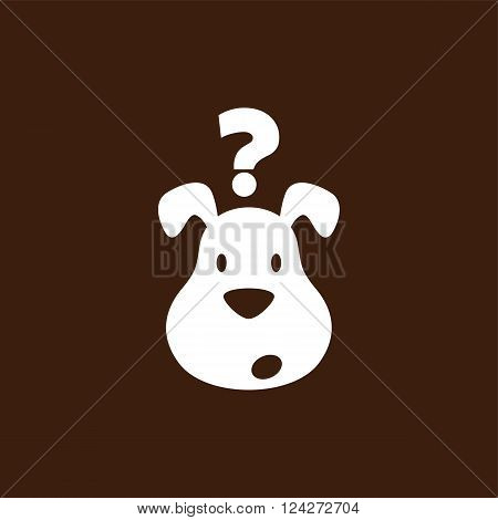 cute little puppy theme vector art illustration