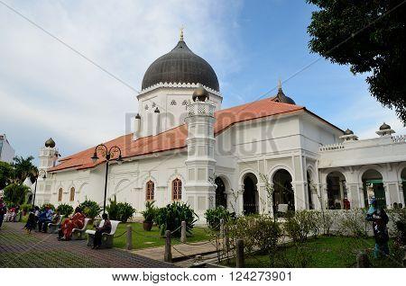 George Town/Malaysia - September 2012: Masjid Kapitan Keling in George Town, Penang, Malaysia