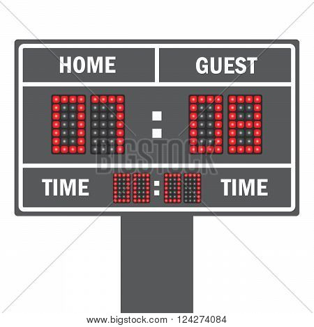 Vector illustration of a LED football scoreboard with fully editable data and space for user info