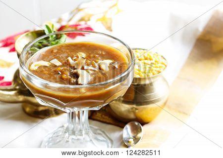 Lentil Kheer / Pradaman parippu payasam - Lentil dessert prepared during South Indian festivals
