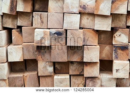 Construction Timber Logs