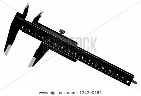 Vector Illustration of a Simple Black Caliper