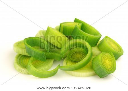 Fresh cut leek