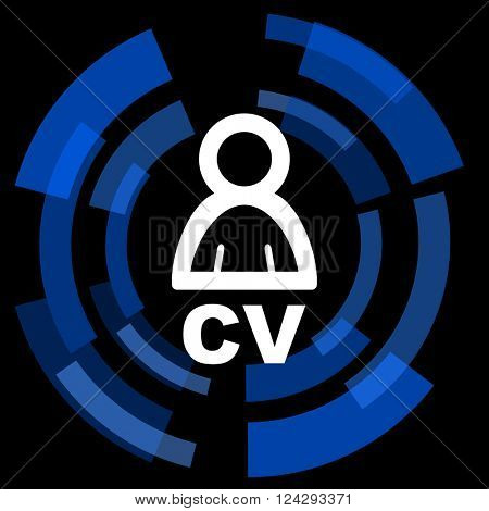 cv black background simple web icon