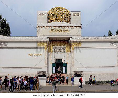 Vienna, Austria, September 15, 2015 - The Secession building