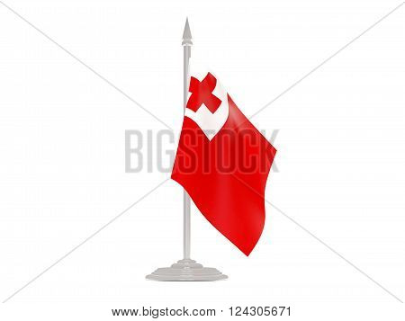 3d rednder, country, flag, flagpole, fluttering, icon, isolated, national, national flag, patriotism, pin, sign, tonga, white background