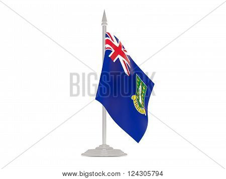 Flag Of Virgin Islands British With Flagpole. 3D Render