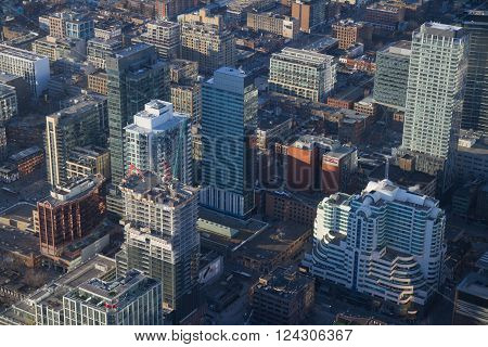 Toronto Aerial View During Sunset