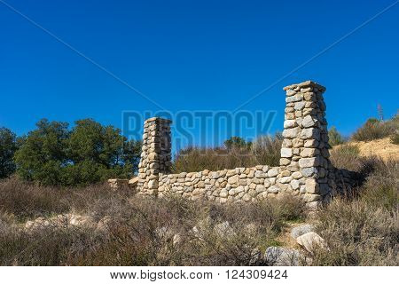 Remains of aging ranch in Mojave desert north of Los Angeles