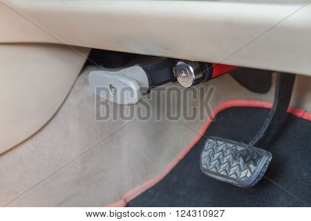 Tool for lock brake pedal of the car