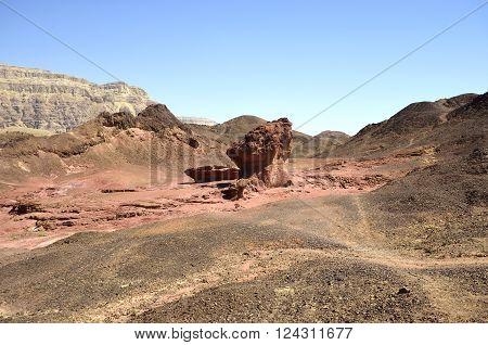timna national park Sandstone cliffs in Valley View Point