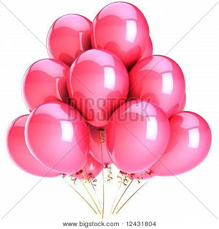 Pink balloons in Love romantic