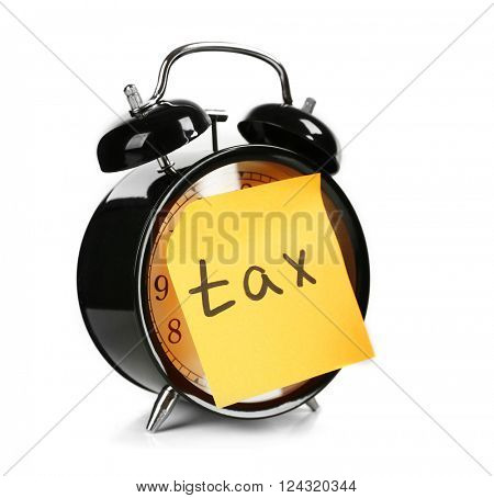 Tax time on alarm clock