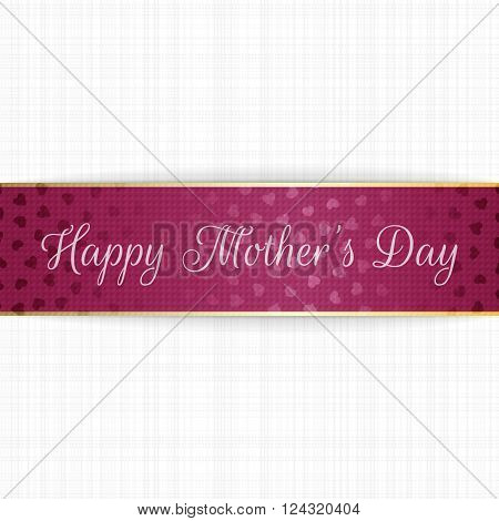 Mothers Day realistic greeting bend Banner. Vector Illustration