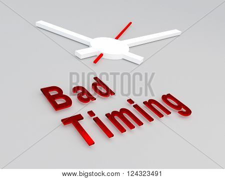 Bad Timing Concept
